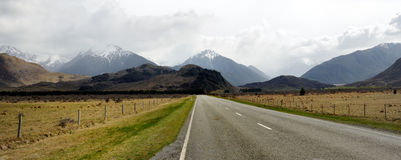 Road through Arthur's Pass. Road through the Arthur's Pass, New Zealand royalty free stock photo
