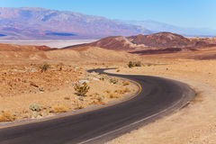 Road on artist drive in Death valley at summer Stock Photo