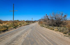 Road in Ash Meadows, California Royalty Free Stock Photo