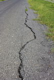 Road asphalt damage crack Stock Image