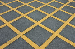 Road asphalt  texture with  lines yellow  pattern Stock Photo