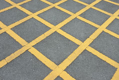 Road asphalt  texture with  lines yellow  pattern Royalty Free Stock Photography