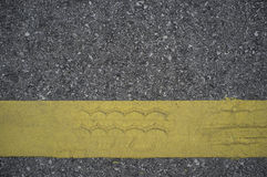 Road asphalt texture with lines yellow Stock Photography