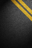 Road asphalt texture with separation lines Stock Images