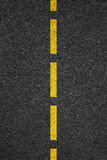 Road asphalt texture with separation lines.  Royalty Free Stock Image