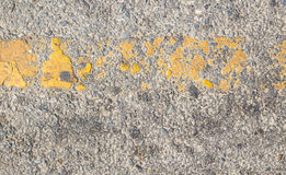 Road asphalt texture with yellow line Stock Photo