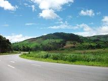 Road. Asphalt road trough mountains Royalty Free Stock Photos