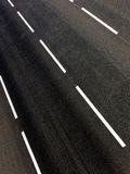Road  asphalted  highway. The asphalted road of highway with white lines of a marking Royalty Free Stock Images