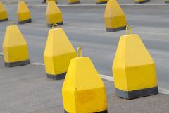 Road  asphalted  obstruct  block Royalty Free Stock Photos