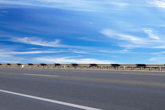 Road  asphalted   protection Royalty Free Stock Image