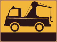 Road assistance sign. Sign of road assistance in retro style. Place for any text Royalty Free Stock Photo
