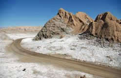 Road in the Atacama Desert Royalty Free Stock Image