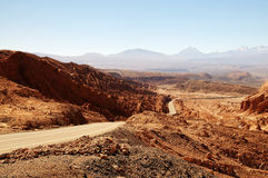 Road in Atacama desert Royalty Free Stock Photo