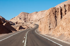 Road in Atacama desert (Chile) Stock Image
