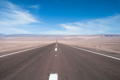 Road in Atacama desert, Chile Royalty Free Stock Images