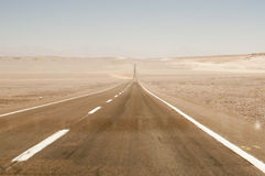 Road on Atacama desert, Chile Stock Photos
