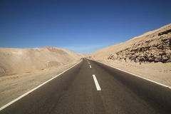 Road through the Atacama Desert, Chile Stock Images
