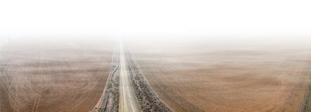Road in Australian countryside. royalty free stock images