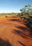 Road in the Australian desert Royalty Free Stock Photos