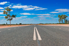 Road in the Australian outback Stock Photo