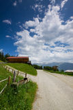 A road in Austria, Zillertal Royalty Free Stock Images