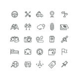 Road and auto line icons Royalty Free Stock Photo