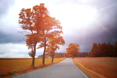 Road in Autumn. Check Republic royalty free stock images