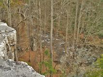 Beaverdam Creek from the top of Backbone Rock. The road through Backbone Rock Recreation Area in Shady Valley, Tennessee travels through a short tunnel and Royalty Free Stock Photography