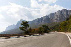 Road background of mountain landscape Stock Image