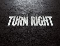 Road background Turn Right. Asphalt road texture. Place your own graphic there stock photography