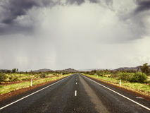 Road bad weather. An image of a road under bad weather stock photography