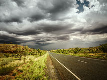 Road bad weather. An image of a road under bad weather royalty free stock photo