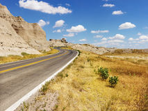 Road Through the Badlands Royalty Free Stock Photo