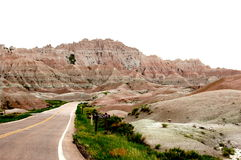 Highway in Badlands National Park Royalty Free Stock Image