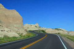 Road In The Badlands Royalty Free Stock Image