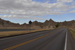 Road in Badlands National Park Stock Images