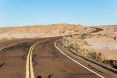 Road through the badlands Royalty Free Stock Image