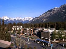 Road through Banff. Royalty Free Stock Photos