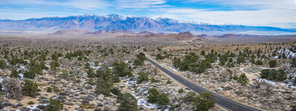 Road in Barren California Wilderness Royalty Free Stock Images
