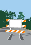 Road Barricade-Blank Sign Stock Photography