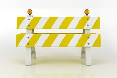 Road Barricade Sign Royalty Free Stock Photos