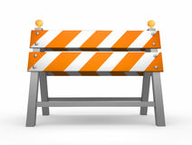Road barrier. Isolated on white background Stock Photography