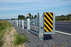 Road barrier. Photo of road safety barrier stock images