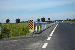 Road barrier. Photo of road safety barrier stock photos