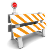 Road barrier. In 3d, stop for check or stop activities concept Royalty Free Stock Photos