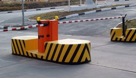 The road barrier royalty free stock images