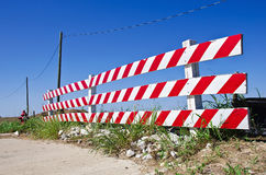 Road barrier Stock Image