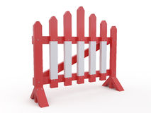 Road barrier, 3D Stock Photo