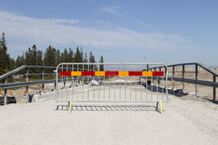 The road barrier Stock Images