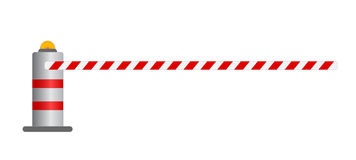 Road barrier  illustration Stock Image